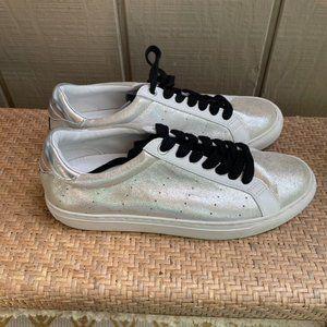 J Crew Saturday Sneakers L6712 Silver Suede